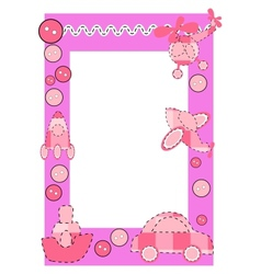 Baby frame or greeting card vector