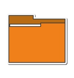 File folder document design vector