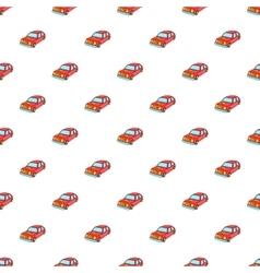 Car pattern cartoon style vector