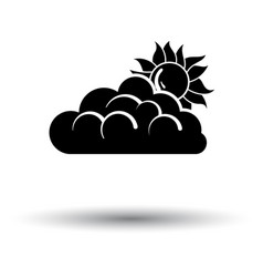 sun behind clouds icon vector image