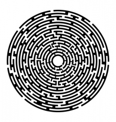 Round maze izolated on white vector