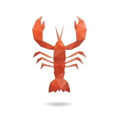 Crayfish abstract isolated vector image