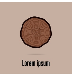 Tree rings background vector