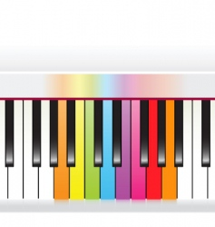 Piano with rainbow vector
