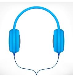 Blue headphones vector image