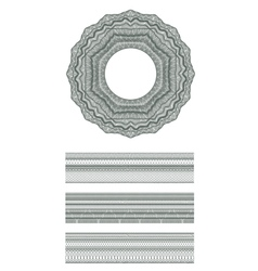 Guilloche element for design certificate vector