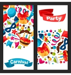 Carnival show and party banners with celebration vector