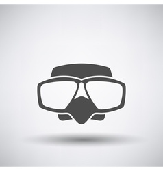 Scuba mask icon vector