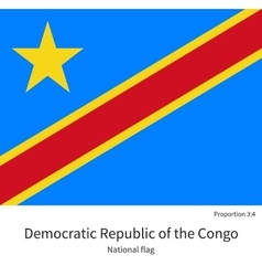 National flag democratic republic of the congo vector