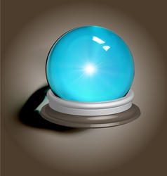 Magic crystal ball vector