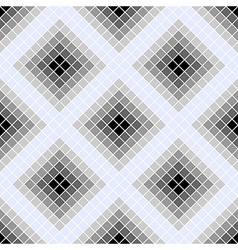 Seamless pattern with grey rhombus vector