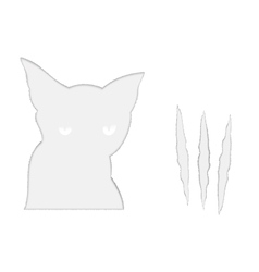 Sad cat and it scratches vector