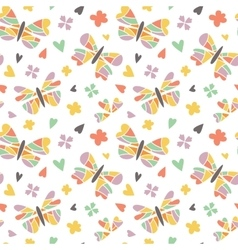 Butterfly seamless patterns vector