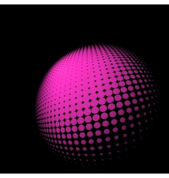 Abstract halftone sphere vector