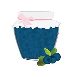 Blueberrry jam vector