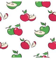 cartoon apples pattern vector image
