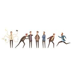Cartoon characters set vector