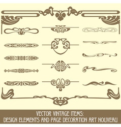 Design elements and page decoration vector