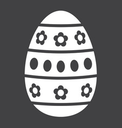 Easter egg glyph icon easter and holiday vector