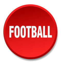 football red round flat isolated push button vector image