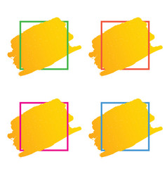 frame set in various color vector image