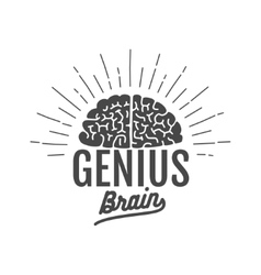 genius brain logo vector image