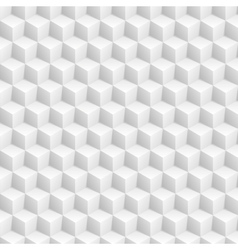 Grey abstract 3d cubes pattern vector