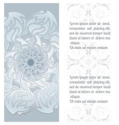 Hand drawn ornamental mandala with place vector image vector image