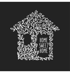 Home sweet home hand drawn poster vintage vector