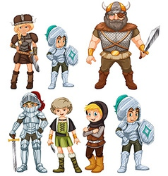 Knights and Warriors vector image vector image