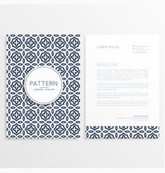 Letterhead cover template brochure vector