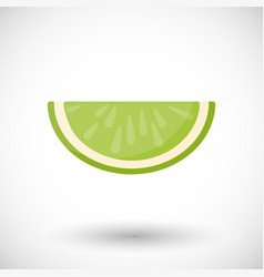 Lime segment flat icon vector