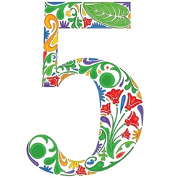 Number five vector image vector image