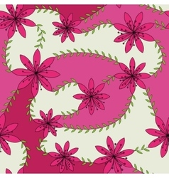 pink flowers with stamens pattern colorful vector image vector image