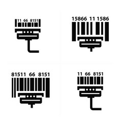 Scan barcode icons vector