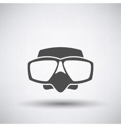 Scuba mask icon vector