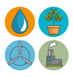 Set of enviromental recycle ecology icon vector