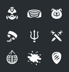 Set of gladiator arena icons vector