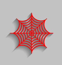 spider on web red icon with vector image vector image