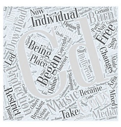 stamping your CD with protection Word Cloud vector image vector image
