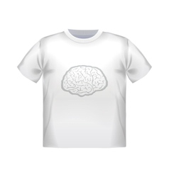 T-shirt mock up with geometric brain image vector