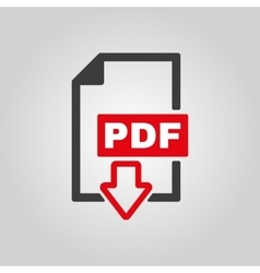 The PDF icon File format symbol Flat vector image