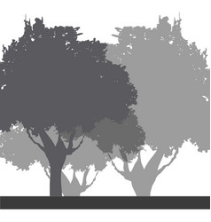 tree foliage trunk branch image vector image vector image