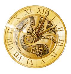 vintage golden watch vector image