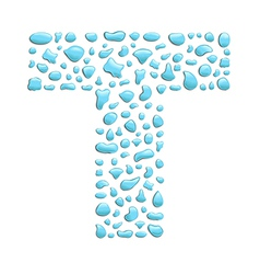 Water letter t vector