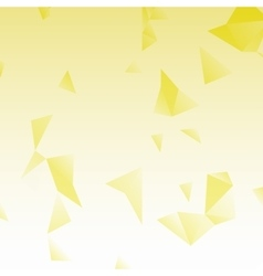 Yellow abstract background with triangles vector image vector image