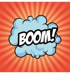 Boom bomb cloud striped explosion icon vector