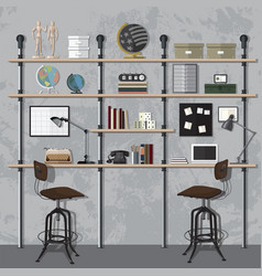 home office modern vector image