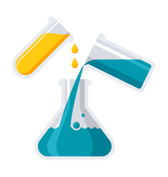 Experiment or chemistry icon vector