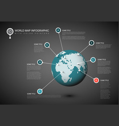 World map globe template vector